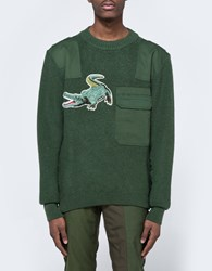 Mhi Upcycled Croc Crew Knit Olive