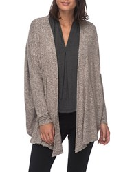 B Collection By Bobeau Plus Heathered Dolman Sleeved Cardigan Pink