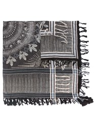 Zadig And Voltaire Tasseled Scarf Black