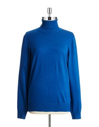 Joseph A Solid Turtleneck Top Super Blue