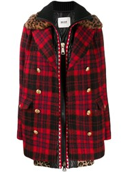 Bazar Deluxe Zipped Tartan Coat Blue