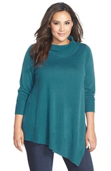 Eileen Fisher Poncho Style Merino Jersey Sweater Plus Size Nile