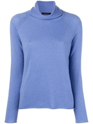 Piazza Sempione Turtleneck Sweater Blue