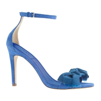 J.Crew Fabric Bow Suede High Heel Sandals Tidewater