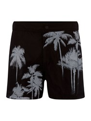 Religion Palm Tree Co Ord Shorts Black