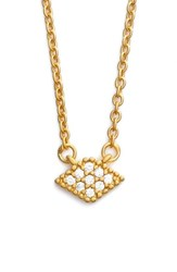 Women's Freida Rothman 'Femme' Small Pendant Necklace Gold Clear