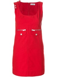 Courreges Tank Dress Red