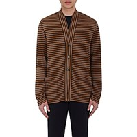 Barena Venezia Men's Striped Shawl Collar Cardigan Black Blue Black Blue