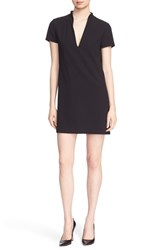 Alice Olivia Women's 'Barry' Short Sleeve V Neck Boxy Shift Dress