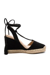 Raye Daisy Wedge Black