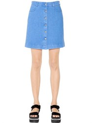 Stella Mccartney A Line Cotton Denim Skirt