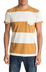Quiksilver Men's Maxed Out Pocket T Shirt Golden Oak