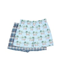Tommy Bahama Printed Cotton Modal Jersey 2 Pack Boxer Set Sleepy Santa Shore Plaid Men's Underwear Multi