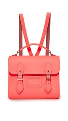 The Cambridge Satchel Company Barrel Backpack Neon Coral