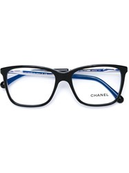 Chanel Square Frame Glasses Black