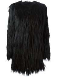 Unreal Fur Faux Gorilla Fur Jacket Black