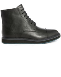 Camper Magnus Black Zip Side High Top Boots