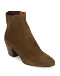 Aquatalia By Marvin K Flaviana Round Toe Booties Herb