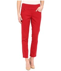 Jag Jeans Amelia Ankle In Bay Twill Dark Poppy Women's Casual Pants Red
