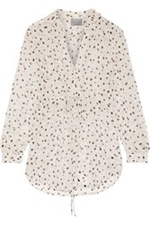 Maiyet Printed Silk Gauze Blouse White
