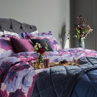 Amara Flourish 200 Thread Count Duvet Set Purple