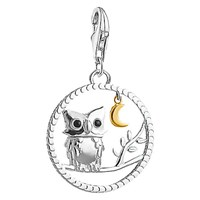Thomas Sabo 18Ct Gold Plated Night Owl Charm Silver Gold