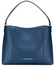 Emporio Armani Logo Hobo Bag Blue