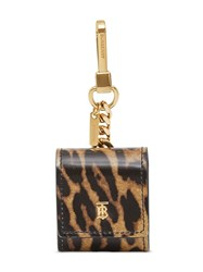 Burberry Leopard Print Leather Earphone Case 60