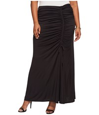 Kiyonna Mermaid Maxi Skirt Black Noir Women's Skirt