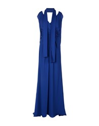 Musani Couture Long Dresses Blue