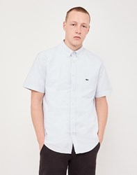 Lacoste Short Sleeved Oxford Shirt Grey