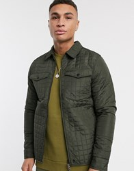 Produkt Quilted Jacket In Khaki Grey