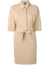 Lorena Antoniazzi Waist Tied Shirt Dress Neutrals