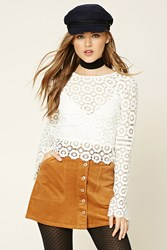 Forever 21 Corduroy Button Down Mini Skirt