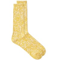 Anonymous Ism Slub Crew Sock Yellow