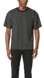 3.1 Phillip Lim Pinstripe Box Cut Tee Black