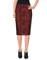 Mariella Rosati Knee Length Skirts Brick Red