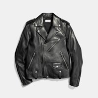 Coach Leather Moto Jacket Black