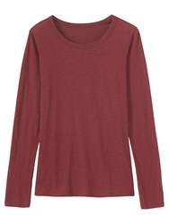 Toast Fine Slubby Cotton T Shirt Monk Red