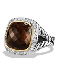 Albion Ring With Smoky Quartz And Diamonds With 18K Gold David Yurman