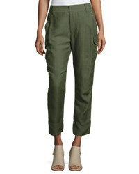 Derek Lam Easy Cargo Pants With Grommets Military