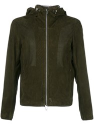 Emporio Armani Perforated Hooded Jacket Green