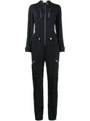 Chloe Zip Front Jumpsuit Blue
