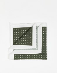 Selected Homme Pocket Square With Spot Green
