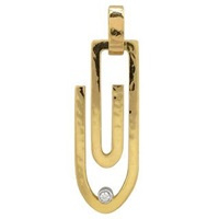 Torrini Clips 18K Yellow Gold Pendant With Diamond