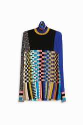 Missoni Women S Multi Check Turtle Neck Boutique1