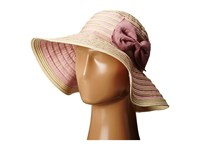 San Diego Hat Company Rbm5556 Washed Paper Braid And Ribbon Sunbrim Hat Blush Caps Pink