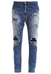 Replay Pilar Relaxed Fit Jeans Bleached Destructed Bleached Denim