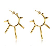 Marcia Vidal Gold Punk Sunshine Hoops