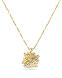 David Yurman Cable Wrap Necklace With Champagne Citrine And Diamonds In 18K Gold